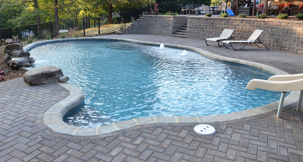 Swimming pools and landscapes by land tech lynchburg va for Pool design virginia