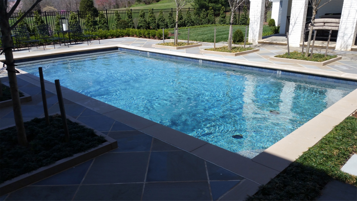 formal style swimming pool Land Tech Group Lynchburg VA