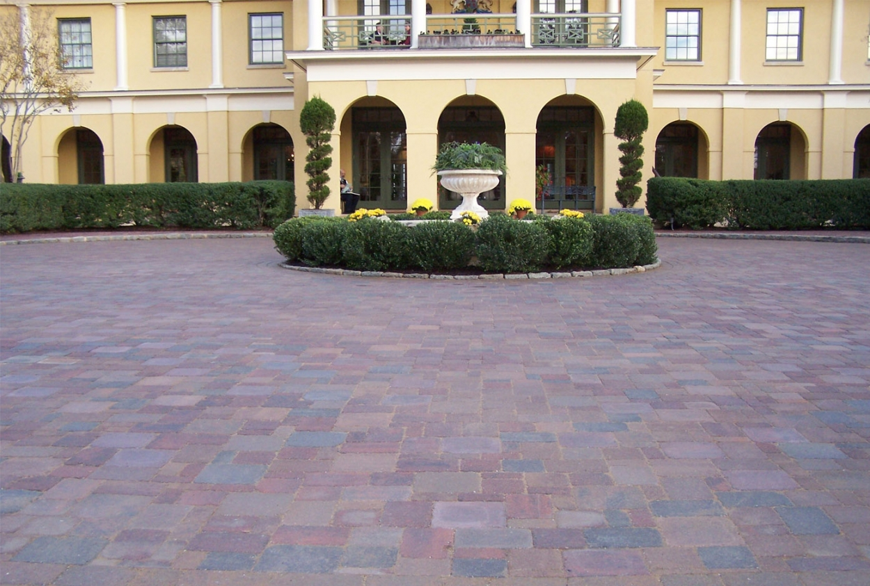 paver driveway by Land Tech Group Lynchburg VA